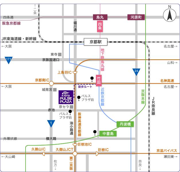 京都パルスプラザ 大展示場地図